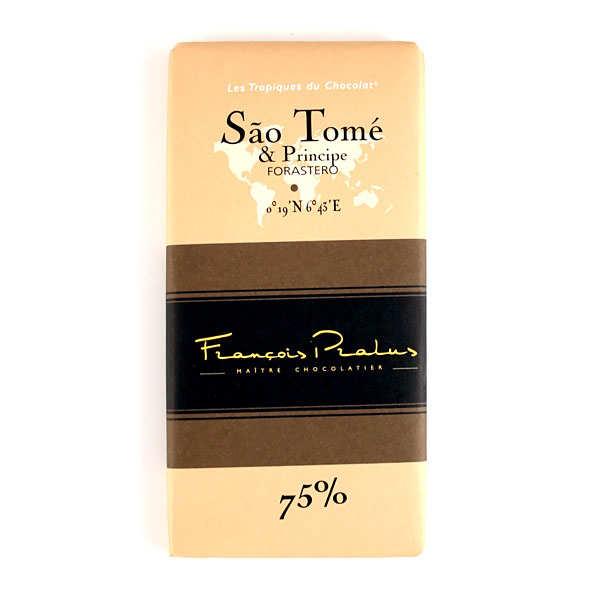 Chocolats François Pralus Tablette Sao Tome - Forastero 75% - Lot de 2 tablettes de 100g
