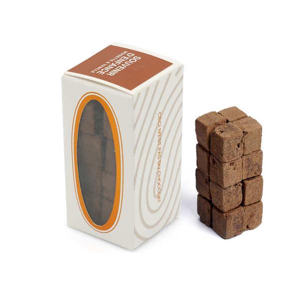 Rrraw Cubes de chocolat cru à la noisette et à la vanille - Etui 55g