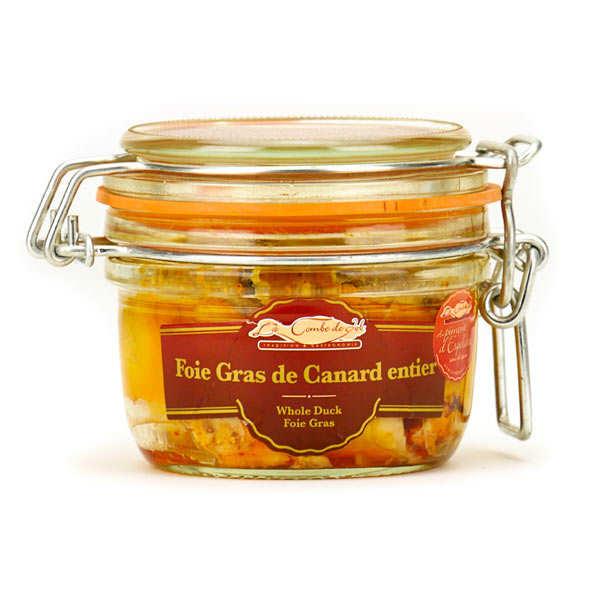 La combe de Job Foie gras de canard entier sans sel au Piment d'Espelette - Bocal 125g