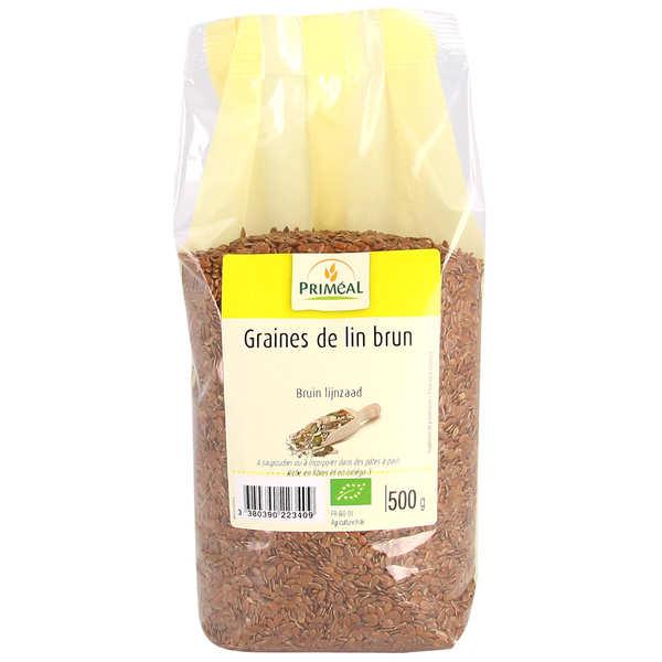 Priméal Graines de lin brunes bio - Lot 4 paquets 500g