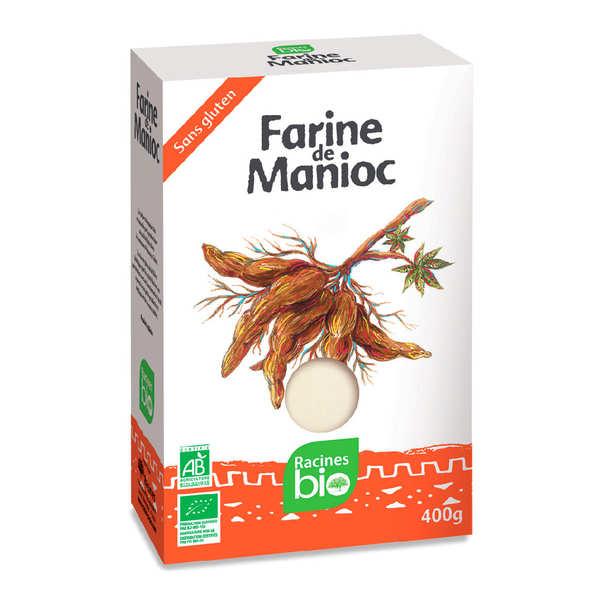 Racines Farine de manioc bio sans gluten - 10 paquets de 400g