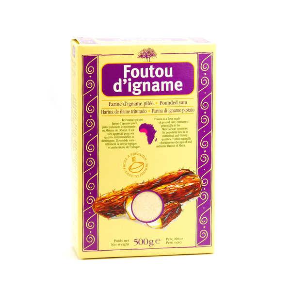 Racines Farine d'igname pour foutou - Boite 500g