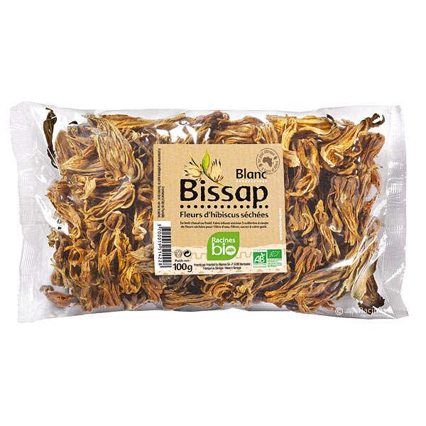 Racines Fleurs de bissap (hibiscus) blanc séchées bio - Sachet 100g