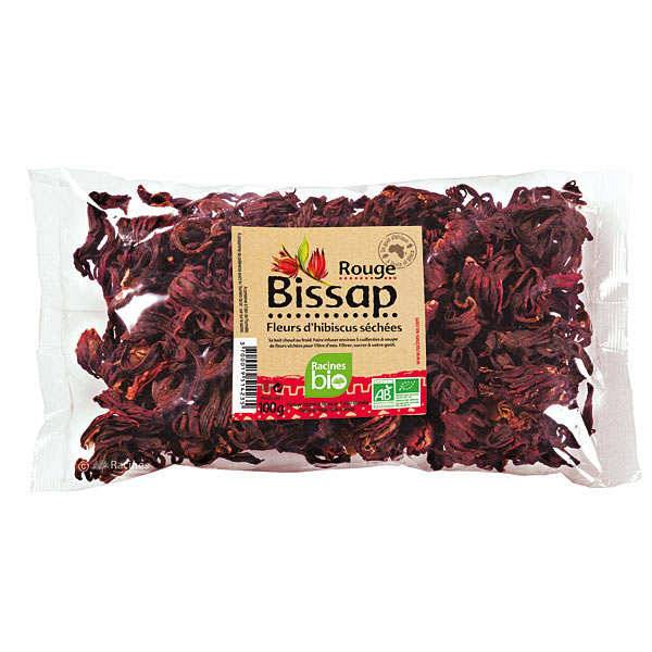 Racines Fleurs de bissap (hibiscus) rouge séchées bio - 10 sachets de 100g