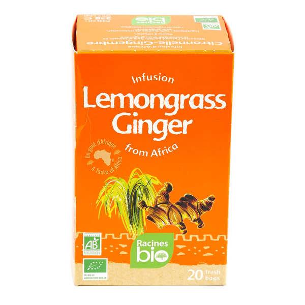 Racines Infusion d'Afrique citronnelle-gingembre bio - Boite 20 sachets