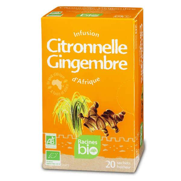 Racines Infusion d'Afrique citronnelle-gingembre bio - 3 boîtes de 20 sachets