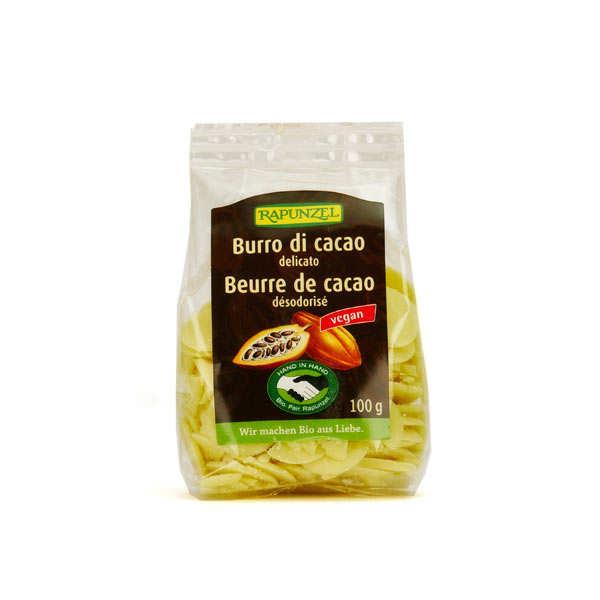 Rapunzel Beurre de cacao bio désodorisé en pastilles - Lot de 3 sachets de 100g