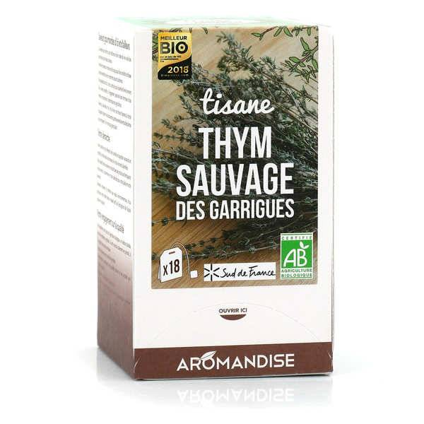 Aromandise Tisane thym sauvage des Garrigues bio - Boite 18 sachets
