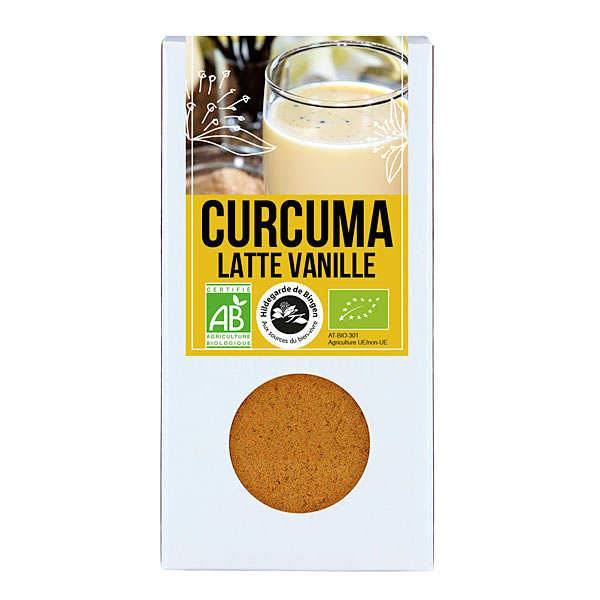 Aromandise Curcuma Latte vanille bio - Préparation pour lait d'or - Boite 60g