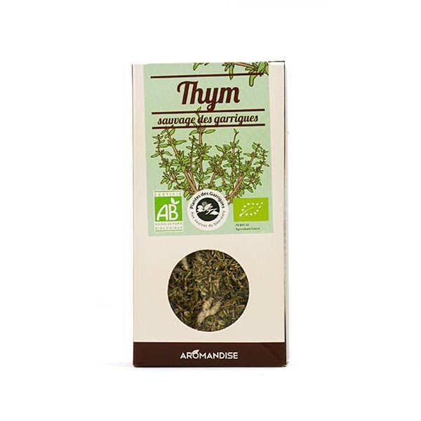 Aromandise Thym sauvage des garrigues bio - Boite 25g