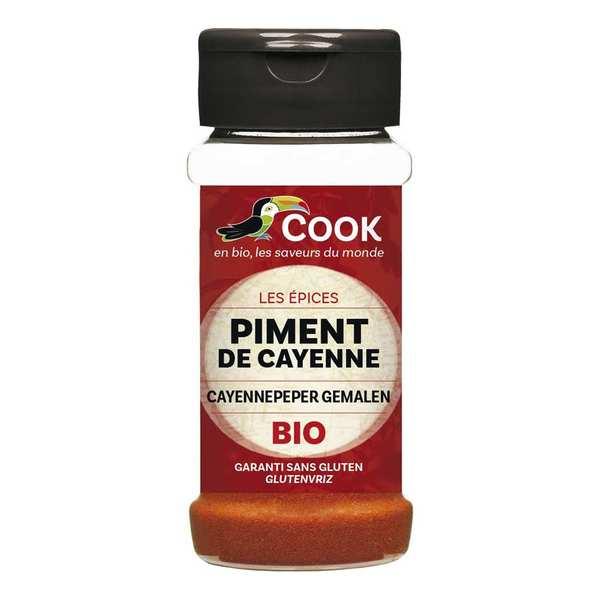 Cook - Herbier de France Piment de Cayenne moulu bio - Lot de 3 pots de 40g