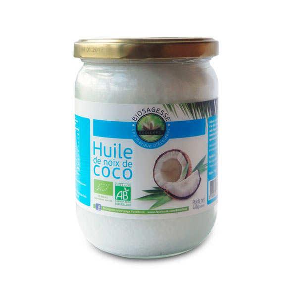 Biosagesse Huile de noix de coco bio - Bocal 500ml