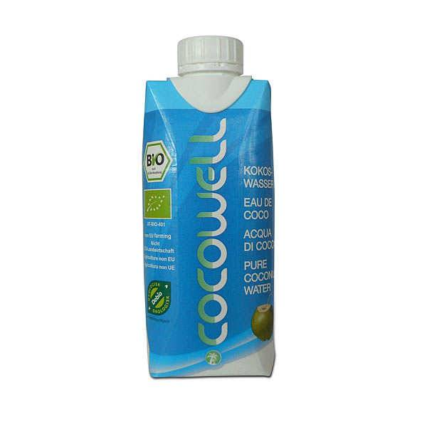 Cocowell Eau de coco bio - 100% eau de coco - Lot de 12x33cl
