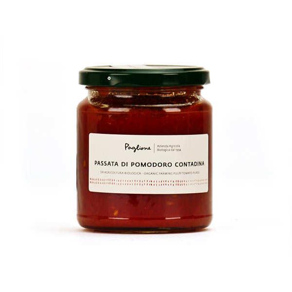 Paglione Sauce tomate italienne bio Passata Contadina - Pot de 290g