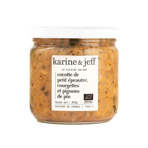 Karine & Jeff Cocotte petit épeautre, courgettes et pignons bio - Bocal 350g