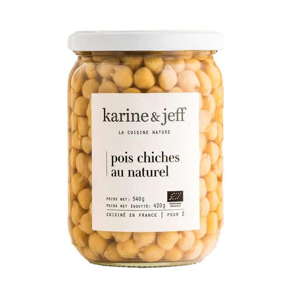 Karine & Jeff Pois chiches au naturel bio - 3 bocaux de 540g