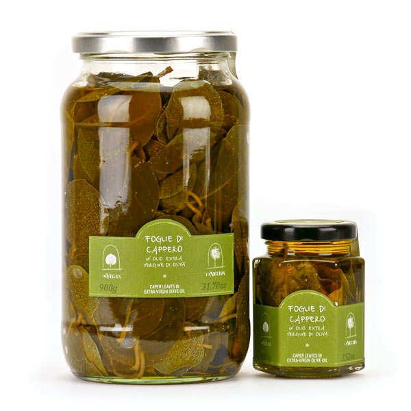 La Nicchia Feuilles de câprier à l'huile d'olive extra vierge - Bocal 100g