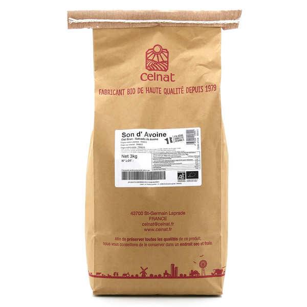 Celnat Son d'avoine bio - Lot 4 sachets de 3kg