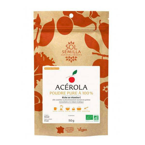 Sol Semilla Acerola en poudre bio - Sachet de 50g