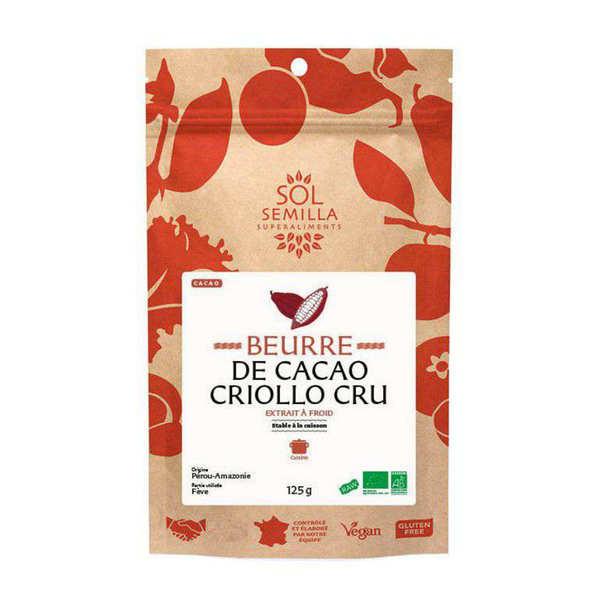 Sol Semilla Beurre de cacao cru bio - Sachet de 125g