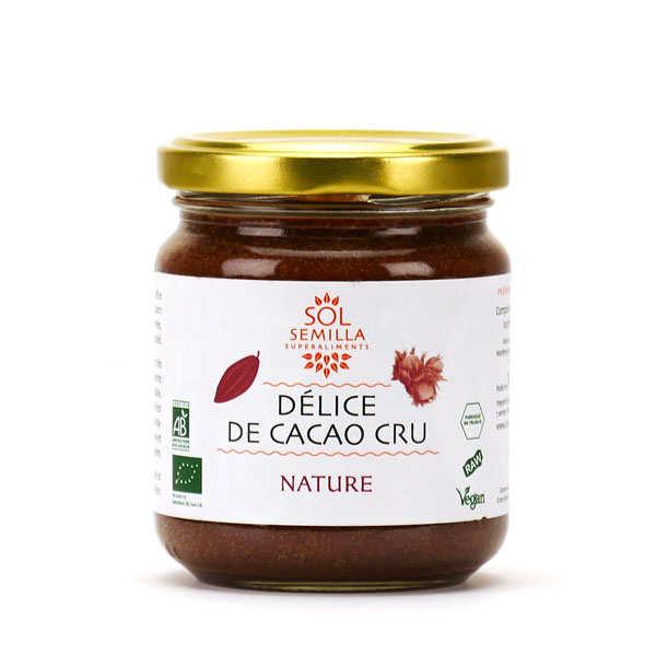 Sol Semilla Pâte de cacao cru et noisette bio - Pot de 190g