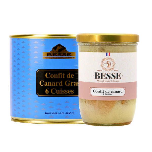 Foie gras GA BESSE Confit de canard Besse du Sud Ouest - Boîte 6 cuisses 1800g