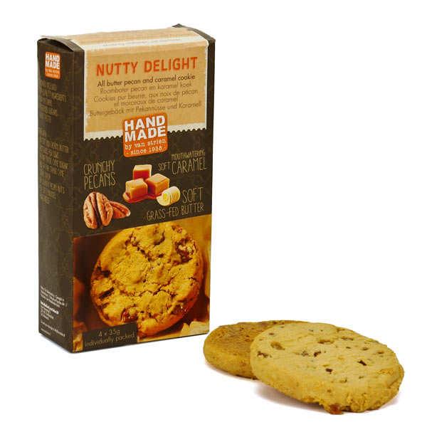 Van Strien Cookies pur beurre noix de pécan et caramel - Boîte 4 x 35g