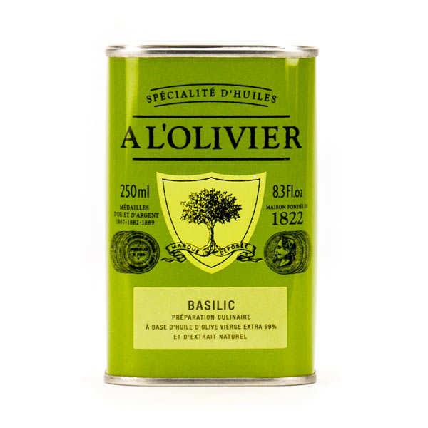 A L'Olivier Huile d'olive vierge extra au basilic - Bidon 250ml