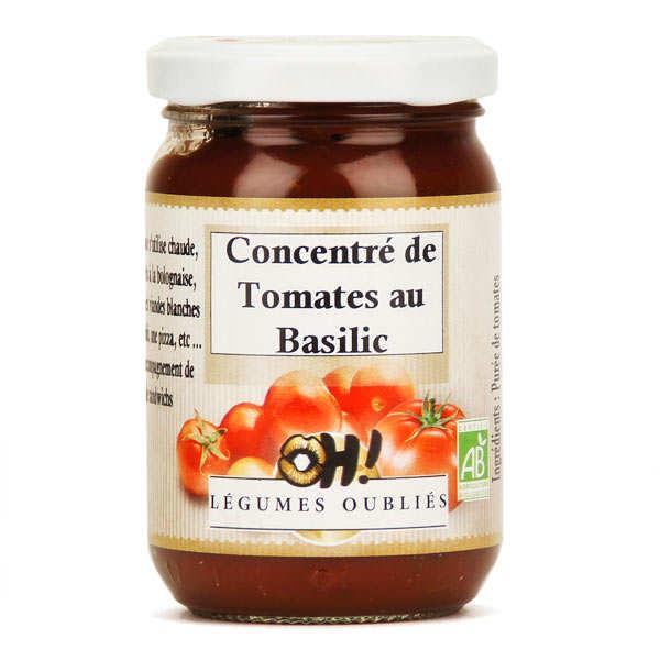 Oh ! Légumes oubliés Concentré de tomates aux feuilles de basilic bio - Pot 21cl