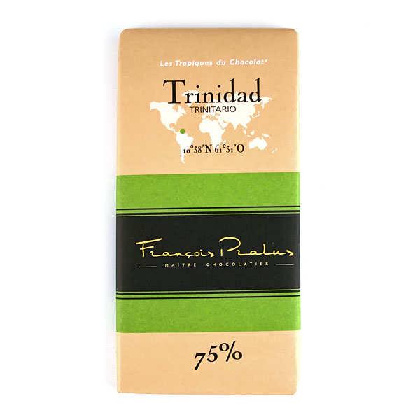 Chocolats François Pralus Tablette chocolat noir Trinidad - Trinitario 75% - Lot de 3 tablettes de 100g