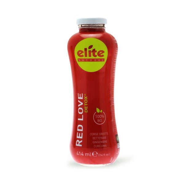 Elitegroup Jus detox Red Love bio et équitable - Cerise, betterave, gingembre et curcuma - Bouteille 414ml