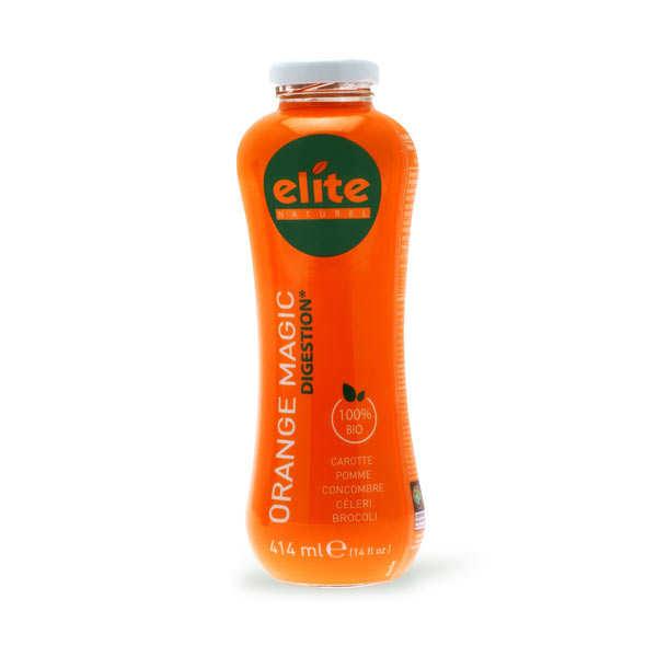 Elitegroup Jus detox Orange Magic bio équitable - Carotte, pomme, concombre, céleri, brocoli - Lot de 6 bouteilles de 414ml