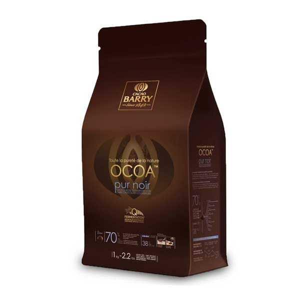 Cacao Barry Ocoa™ Chocolat de couverture noir 70% - en pistoles - Paquet 1kg