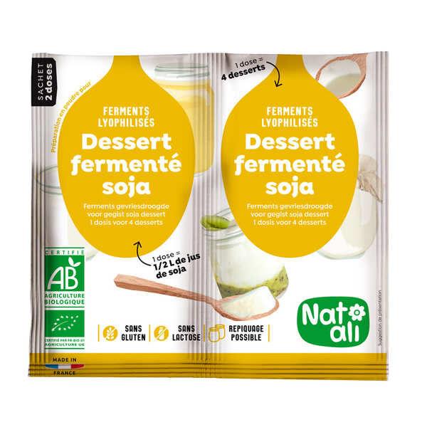 Nat-Ali Ferments lyophilisés bio pour dessert ou yaourt au soja - les 2 doses de 6g