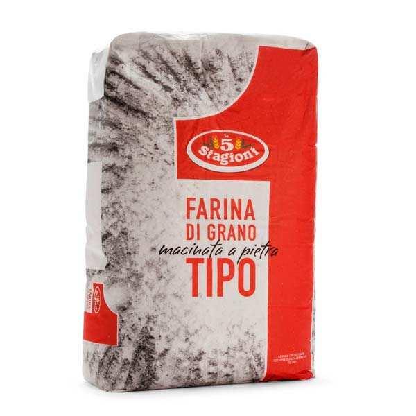 Le 5 Stagioni Farine à pizza pro type 1 - Macinata a pietra - Sac de 25kg