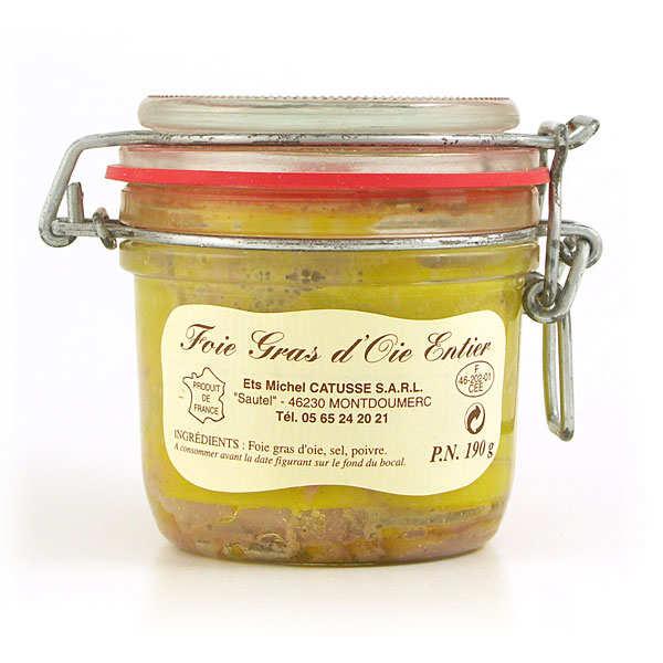 Michel Catusse Foie gras d'oie entier du Sud-Ouest - Bocal 190g