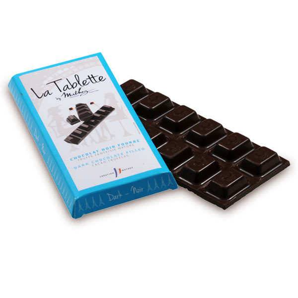 Chocolat Mathez Tablette de chocolat noir fourrée à la truffe fantaisie - 5 tablettes de 95g