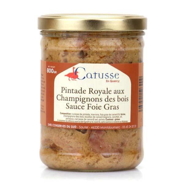 Michel Catusse Pintade royale sauce au foie gras - Bocal 400g
