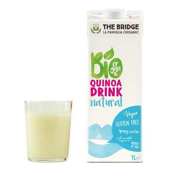 The Bridge Bio Boisson au quinoa bio et sans gluten - Lot de 4 briques 1L