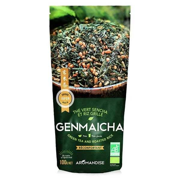 Aromandise Thé vert et riz Genmaicha bio - Sachet 100g