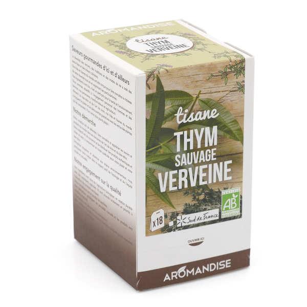 Aromandise Tisane thym sauvage et verveine bio - Boîte 20 sachets