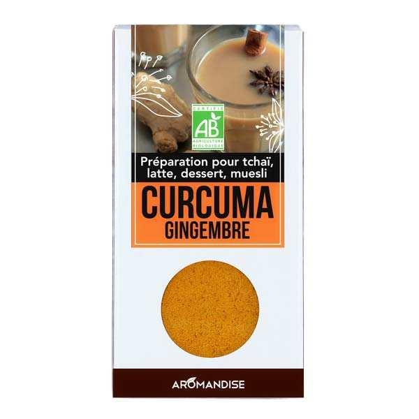 Aromandise Curcuma latte au gingembre bio - Etui 60g