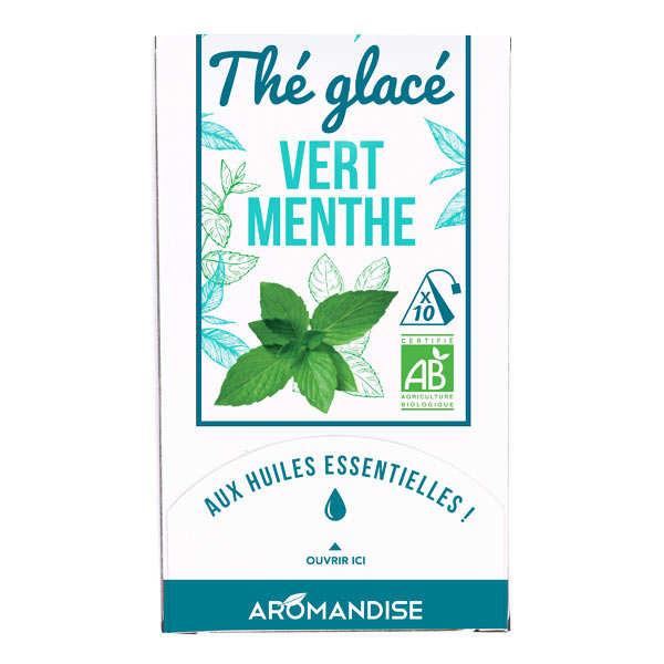Aromandise Thé vert glacé à la menthe bio - Boite 10 sachets
