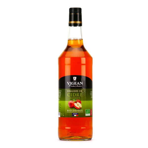Huilerie Vigean Vinaigre de cidre bio Vigean - Lot de 6 bouteilles de 1L