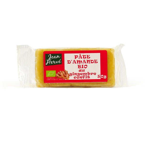 Jean Hervé Pâte d'amande au gingembre confit - bio - Barre 50g