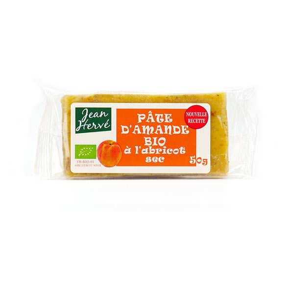 Jean Hervé Pâte d'amande aux abricots secs - bio - 3 barres de 50g