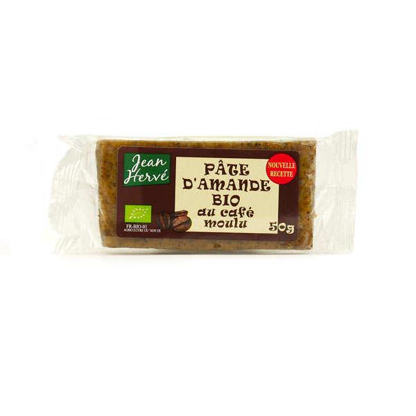 Jean Hervé Pâte d'amande au café moulu - bio - Lot de 6 barres 50g