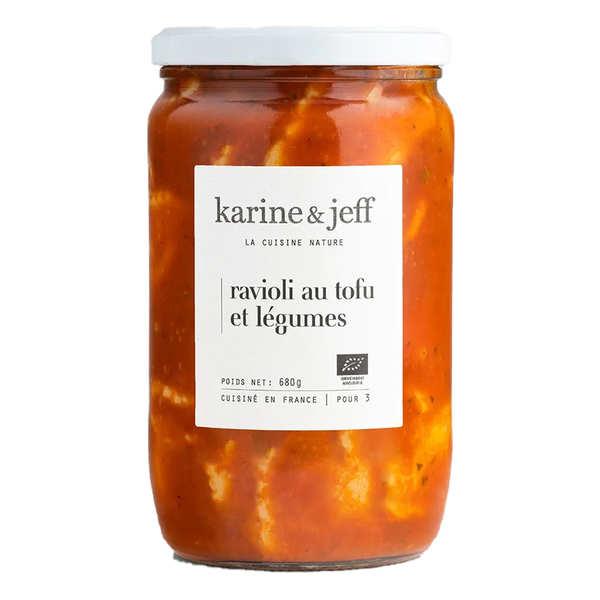 Karine & Jeff Ravioli au tofu et légumes bio - 3 bocaux de 700g