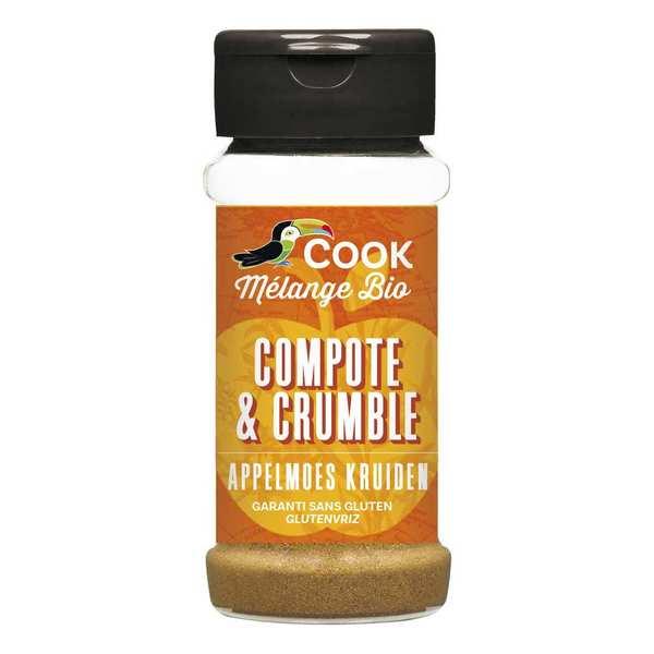 Cook - Herbier de France Mélange d'épices pour compote et crumble bio - Flacon 35g