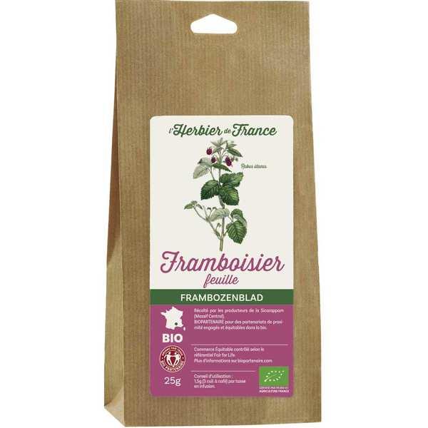 Cook - Herbier de France Infusion de framboisier en feuilles bio - 3 sachets de 25g